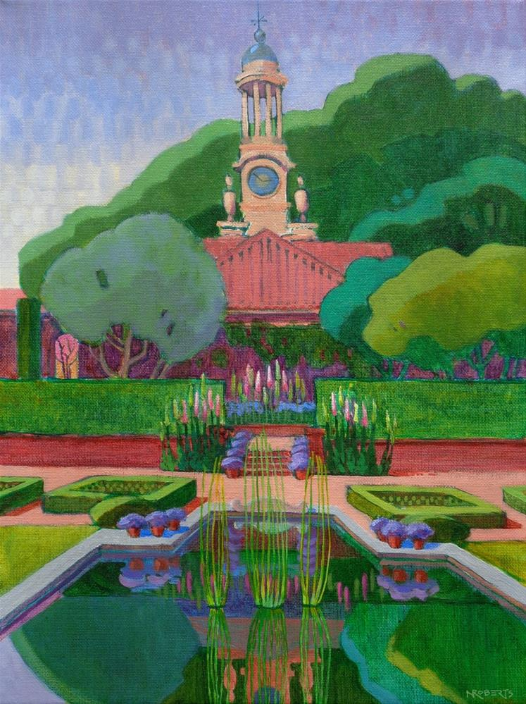 """Filoli Clocktower"" original fine art by Nancy Roberts"