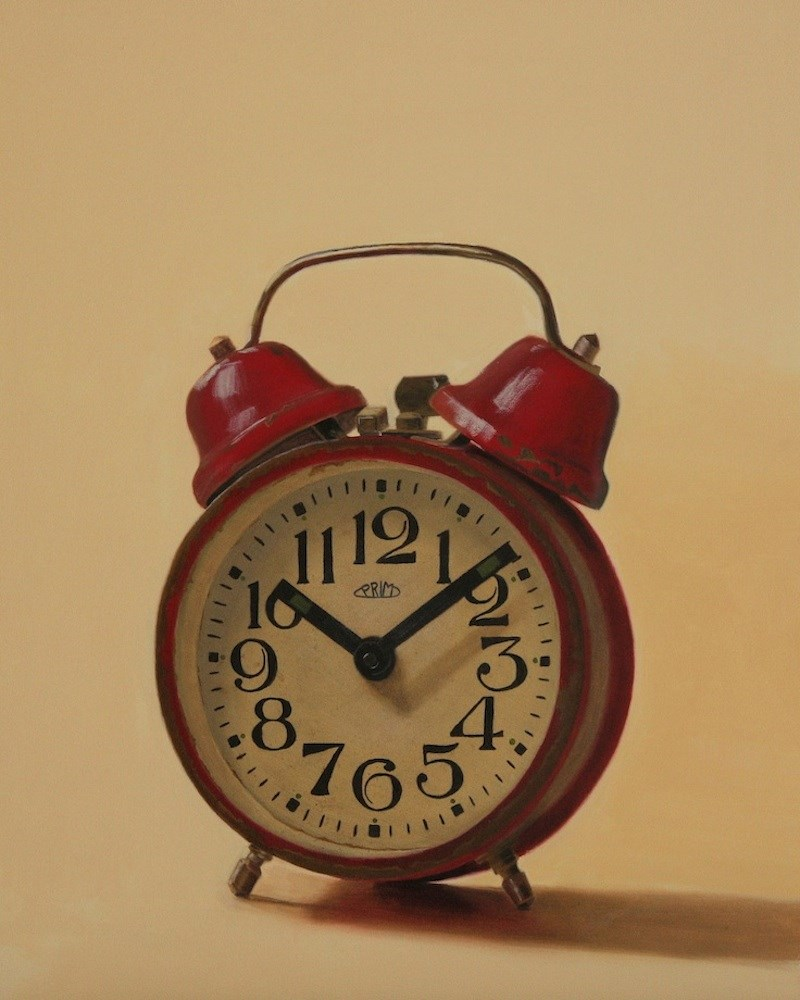 """Red Clock"" original fine art by Susan Fern"