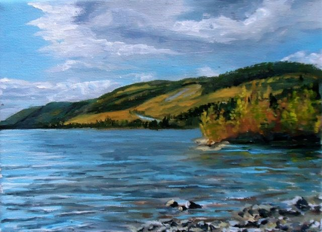 """Autumn, Little Salmon Lake"" original fine art by Jackie Irvine"