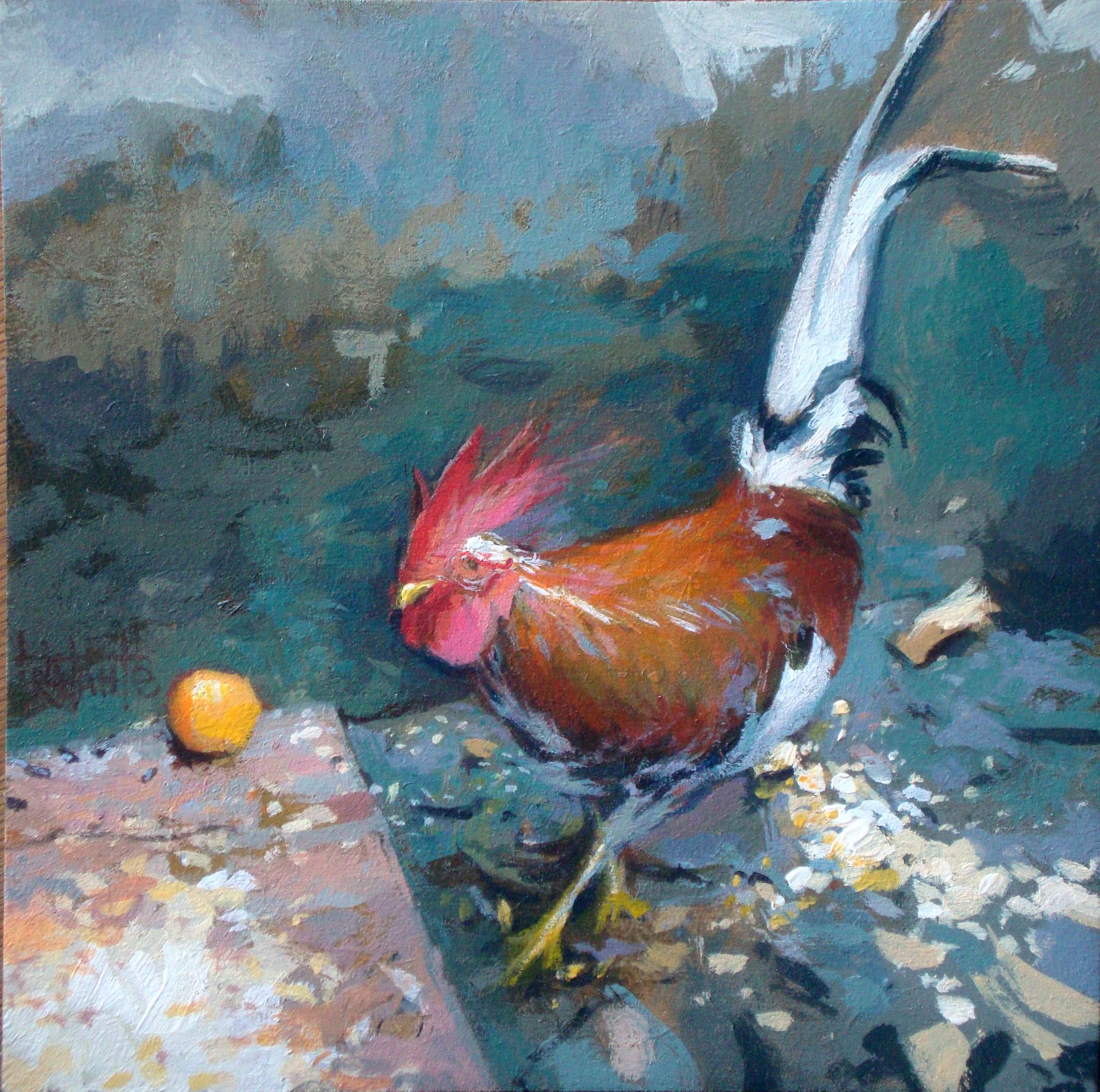 """The cock"" original fine art by Víctor Tristante"