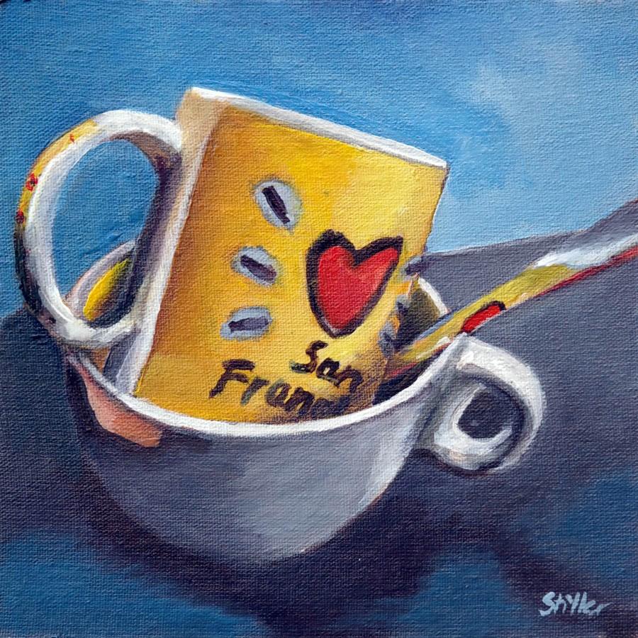 """1813 My Favorite Cup"" original fine art by Dietmar Stiller"