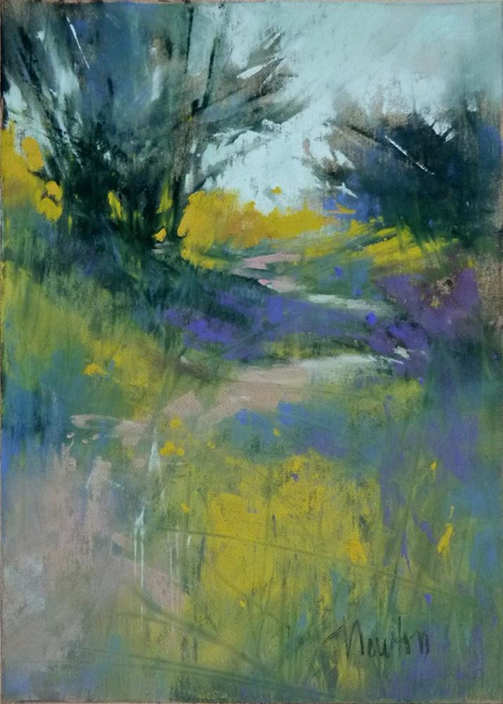 """Study #6 for Dappled Path"" original fine art by Barbara Benedetti Newton"