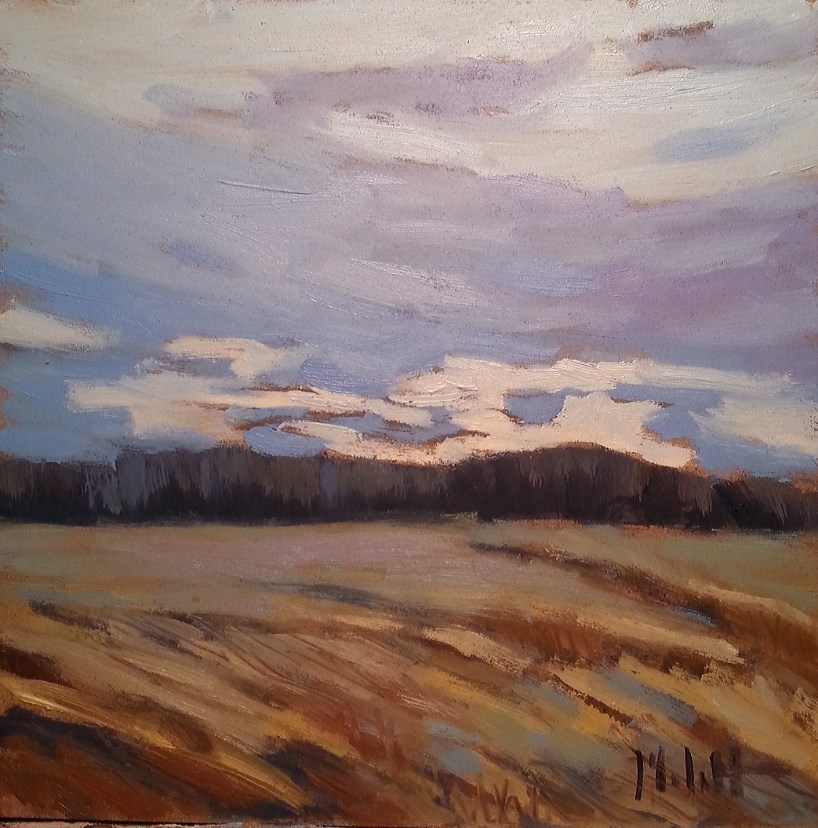 """Harvest Sunrise Autumn Landscape Original Art"" original fine art by Heidi Malott"