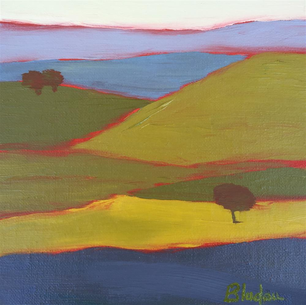 """""""Hills Of Color"""" original fine art by Janet Bludau"""