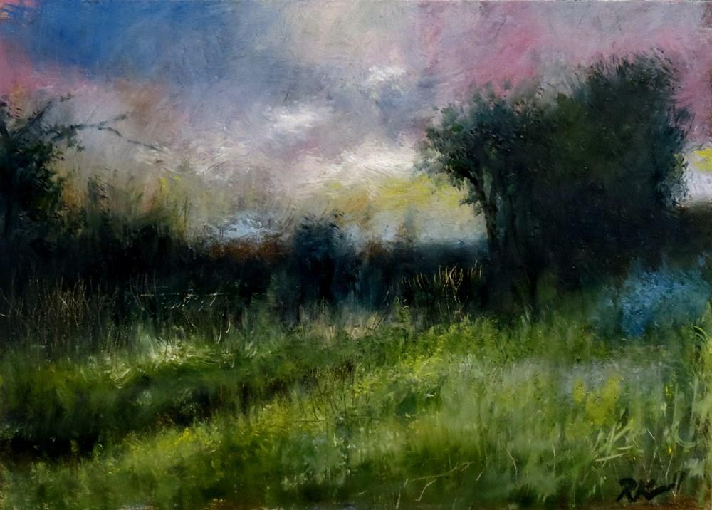 """Overgrown Field"" original fine art by Bob Kimball"