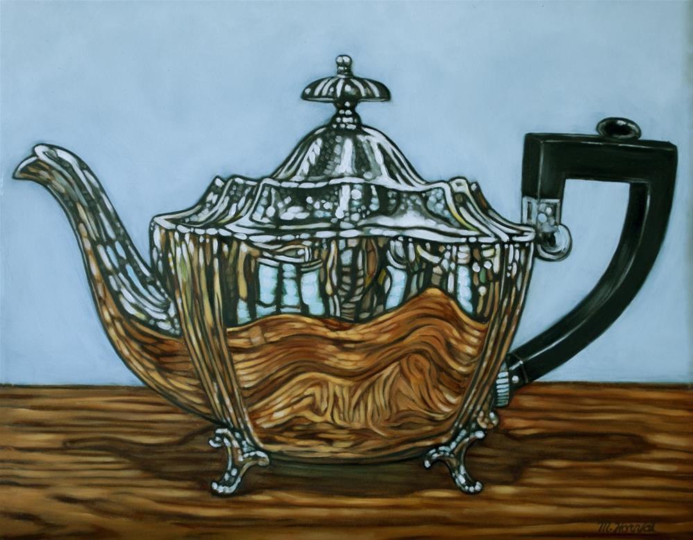 """""""Silver Teapot"""" original fine art by Margaret Horvat"""