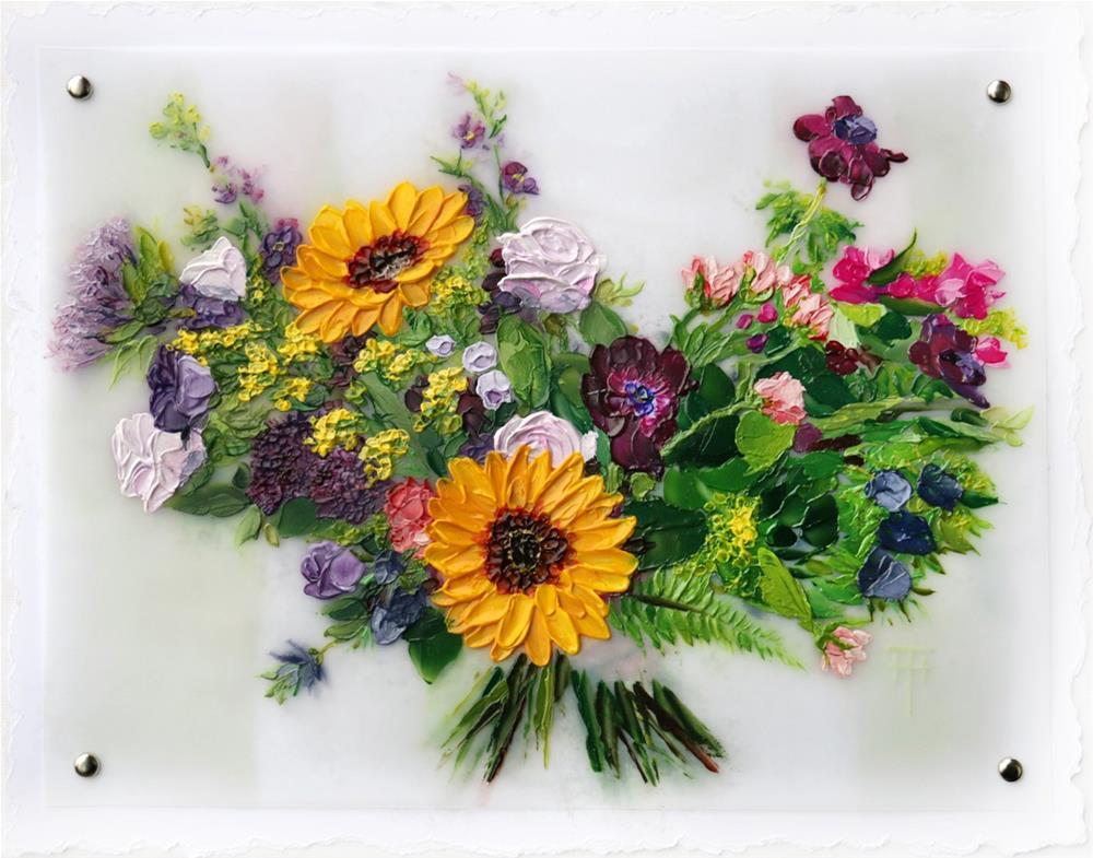"""Sarah's Bouquet - A painting of your wedding bouquet."" original fine art by Terri Heinrichs"