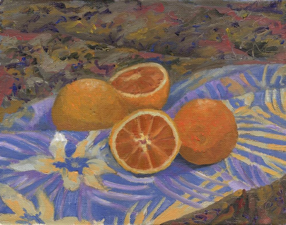 """Oranges"" original fine art by Nancy Herman"