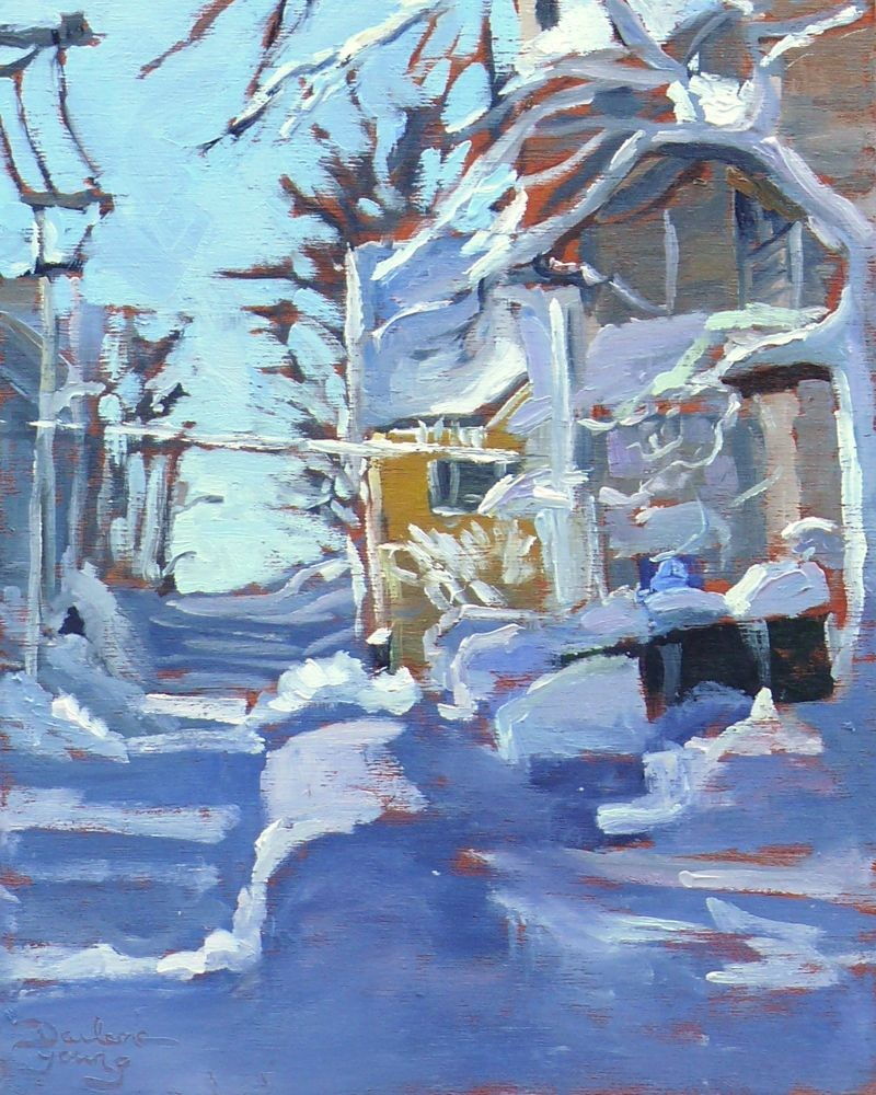 """556 Charlottetown Winter"" original fine art by Darlene Young"