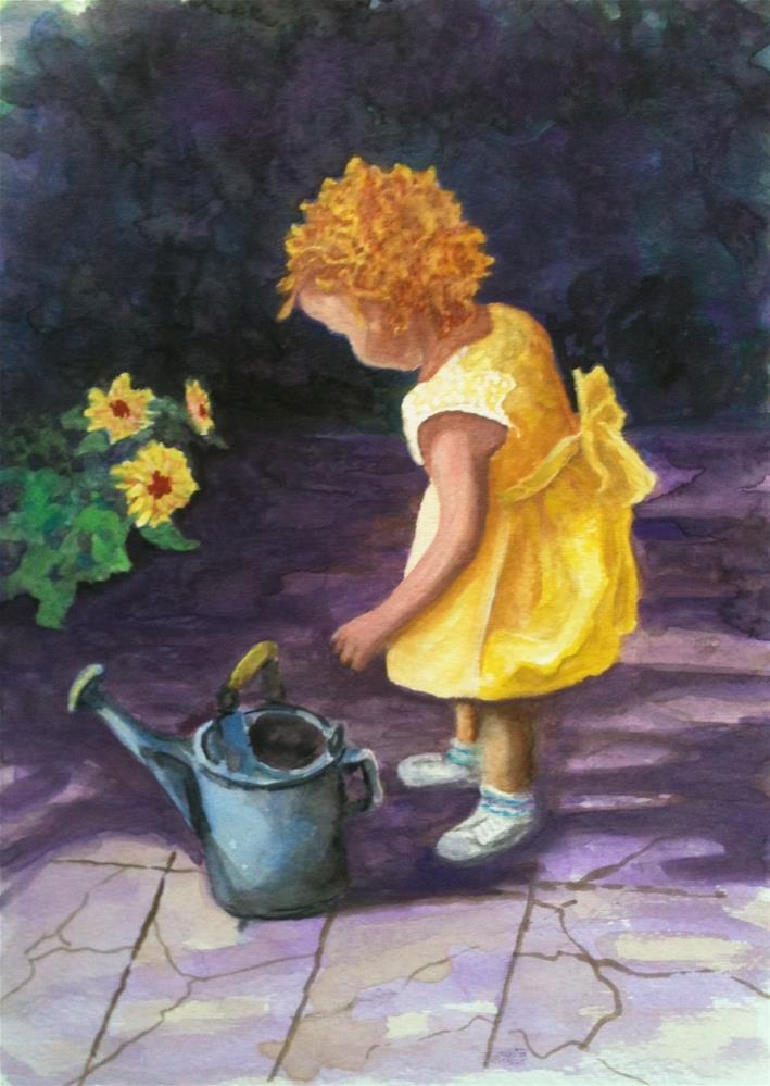 """""""Sunshine on My Shoulder"""" original fine art by Elizabeth Elgin"""