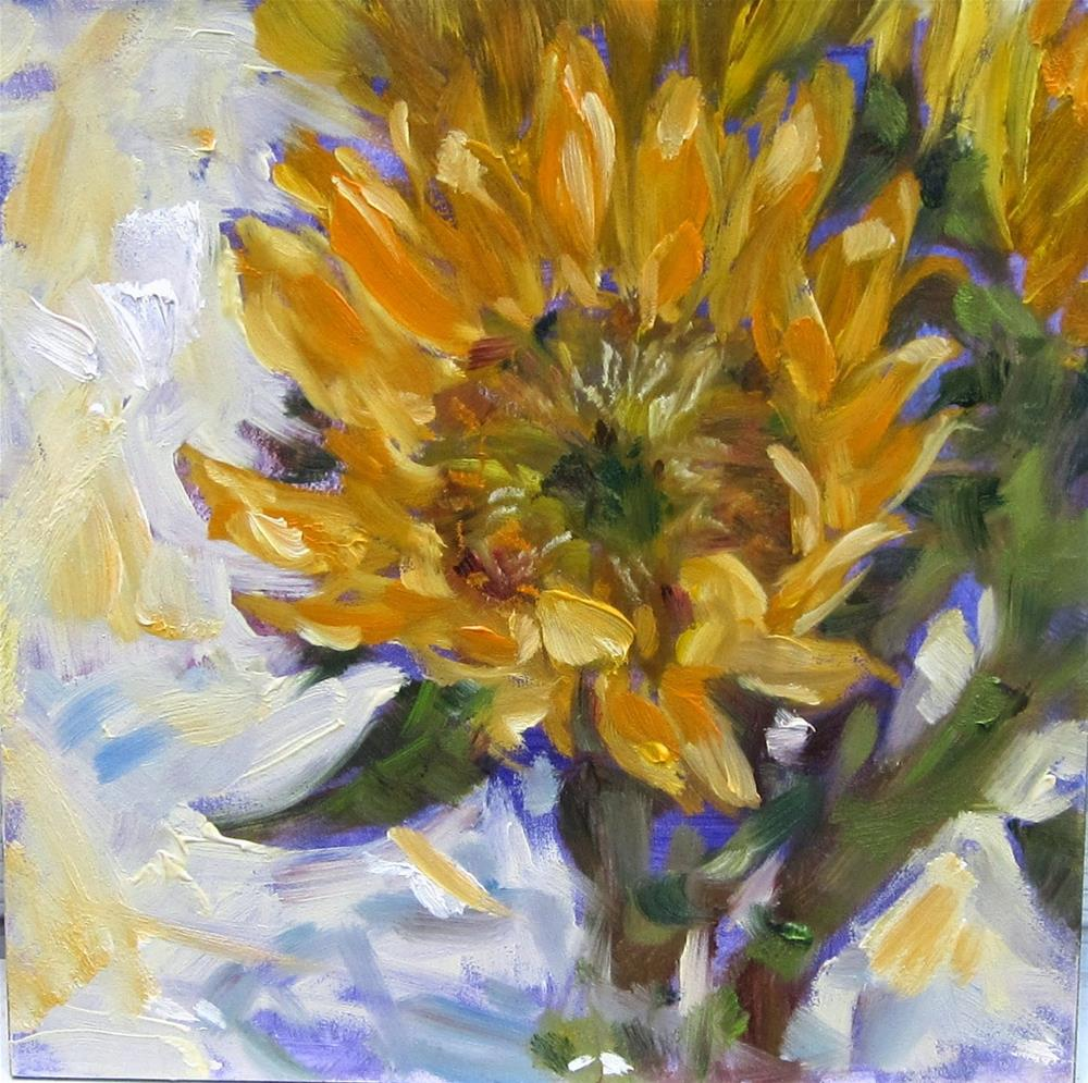 """Trader Joes Sunflowers"" original fine art by Sandy Haynes"