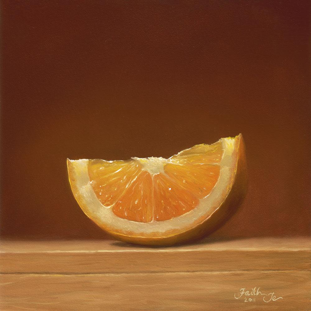 """""""Orange Glow"""" original fine art by Faith Te"""
