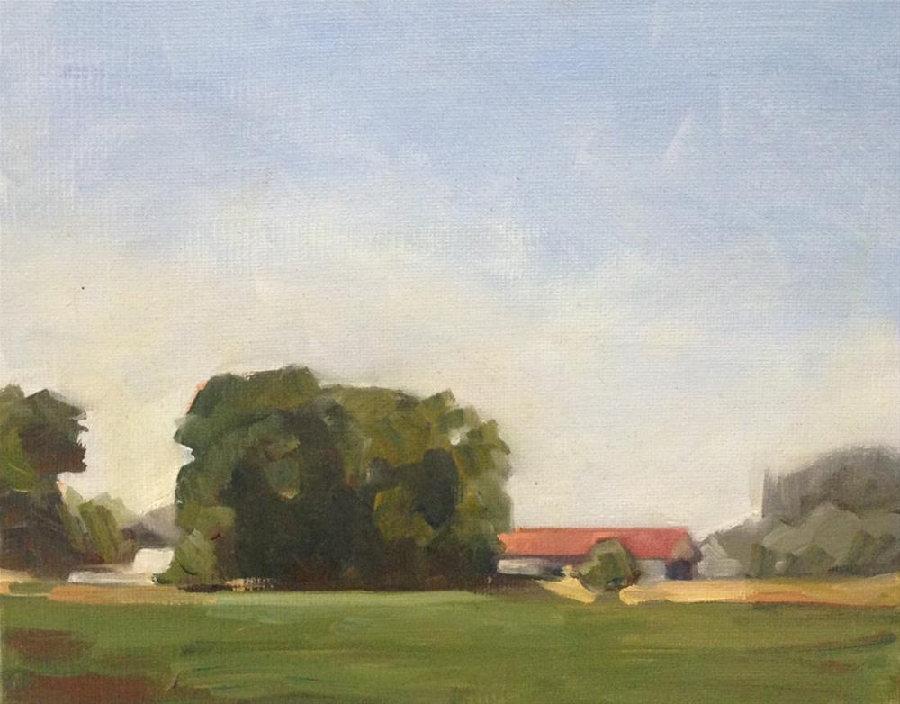 """The Bucolic Barn"" original fine art by Patti McNutt"