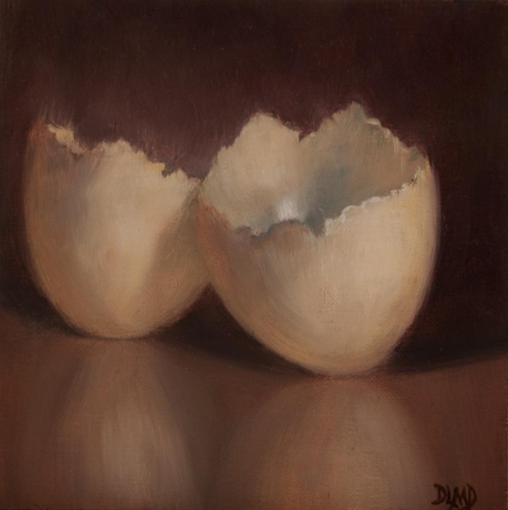 """Delicate Remnants/Daily Sketch: Brown Eggshell"" original fine art by Debbie Lamey-Macdonald"