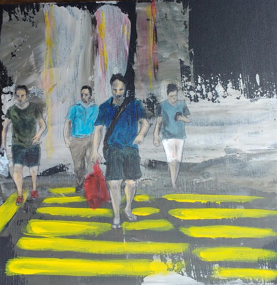 """""""crossing"""" original fine art by Sandra Woerner"""