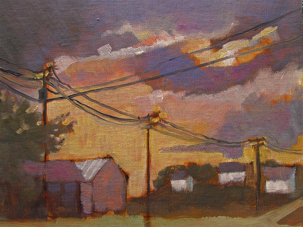 """""""Storm Sheds"""" original fine art by Aurelio Saiz"""