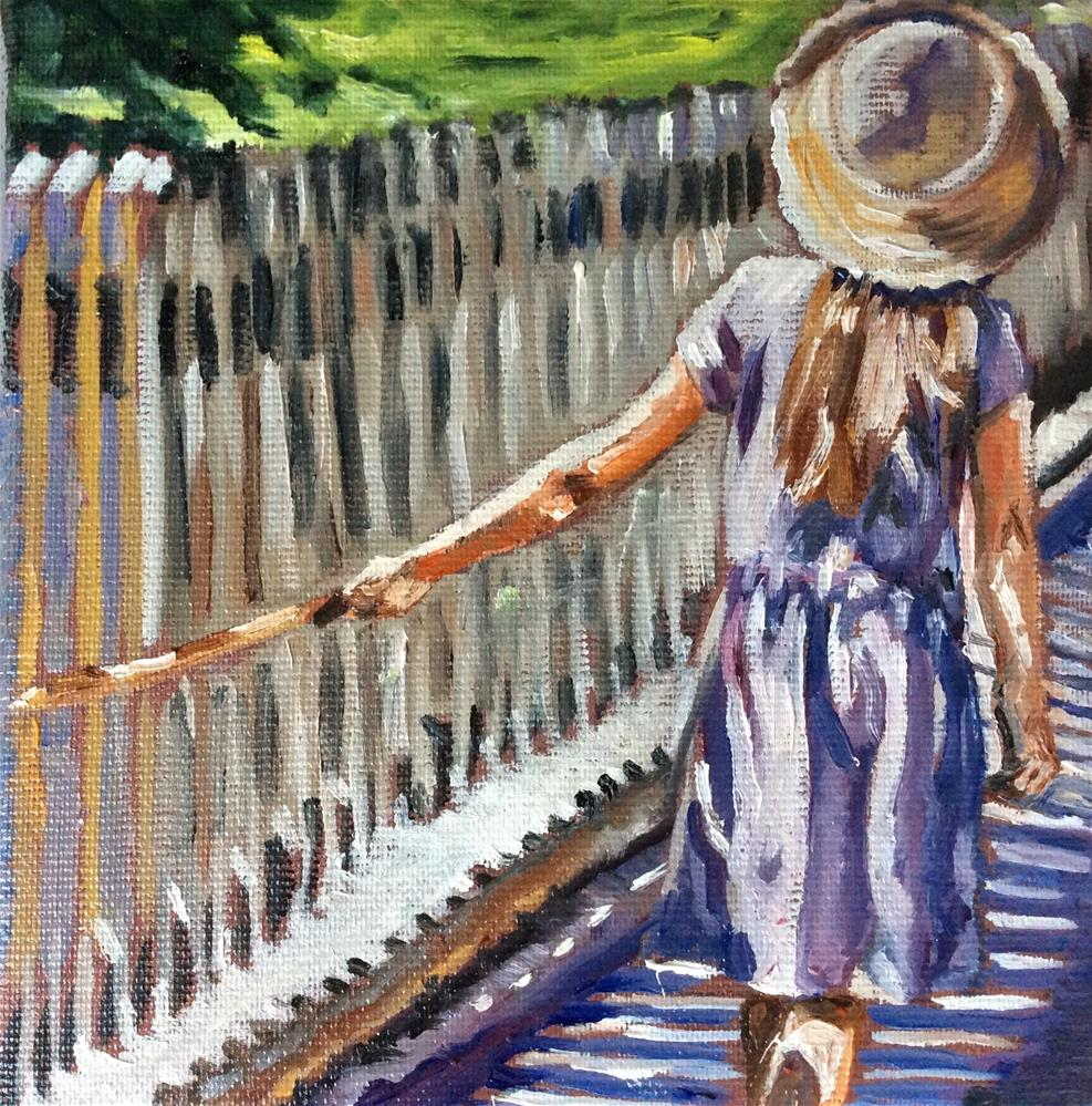 """Strawhat"" original fine art by Sonja Neumann"