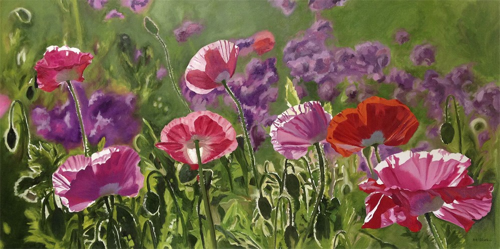 """Poppy Party"" original fine art by Andy Sewell"