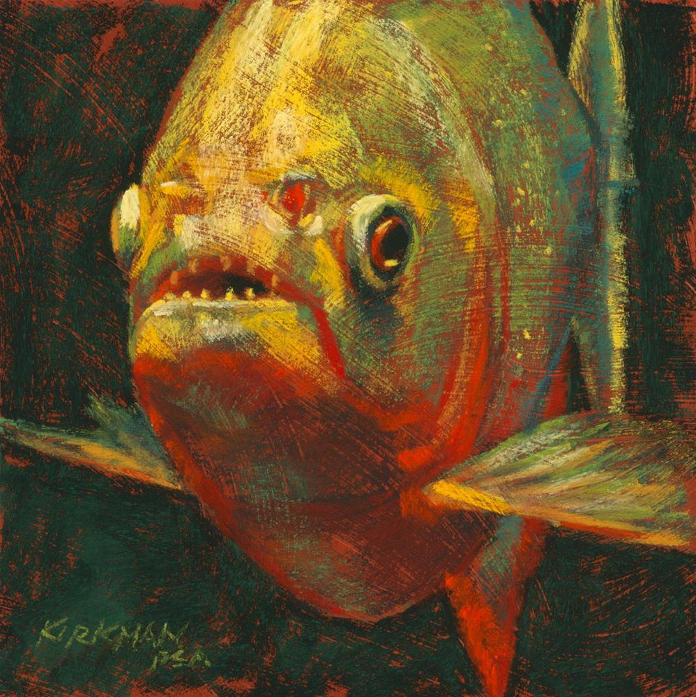 """Hungry Pete"" original fine art by Rita Kirkman"