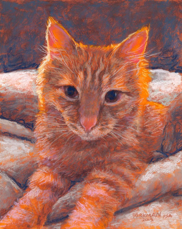 """Happy New Year from Cheeto"" original fine art by Rita Kirkman"