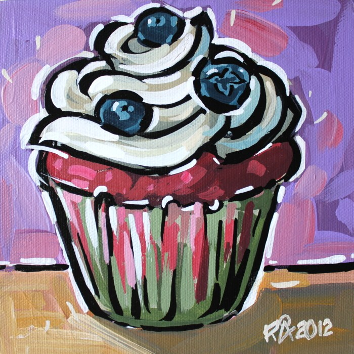 """Cupcake 11"" original fine art by Roger Akesson"