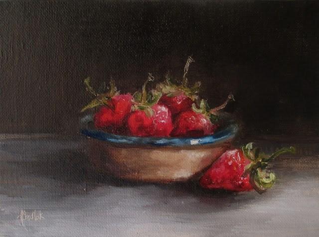"""Daily painting 727 Fresh"" original fine art by Heidi Shedlock"