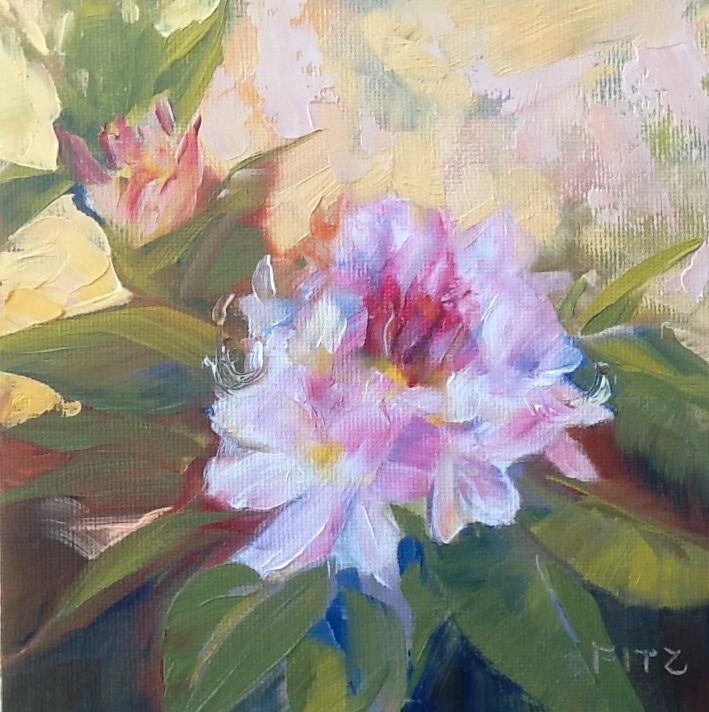"""Rhododendron"" original fine art by Jean Fitzgerald"