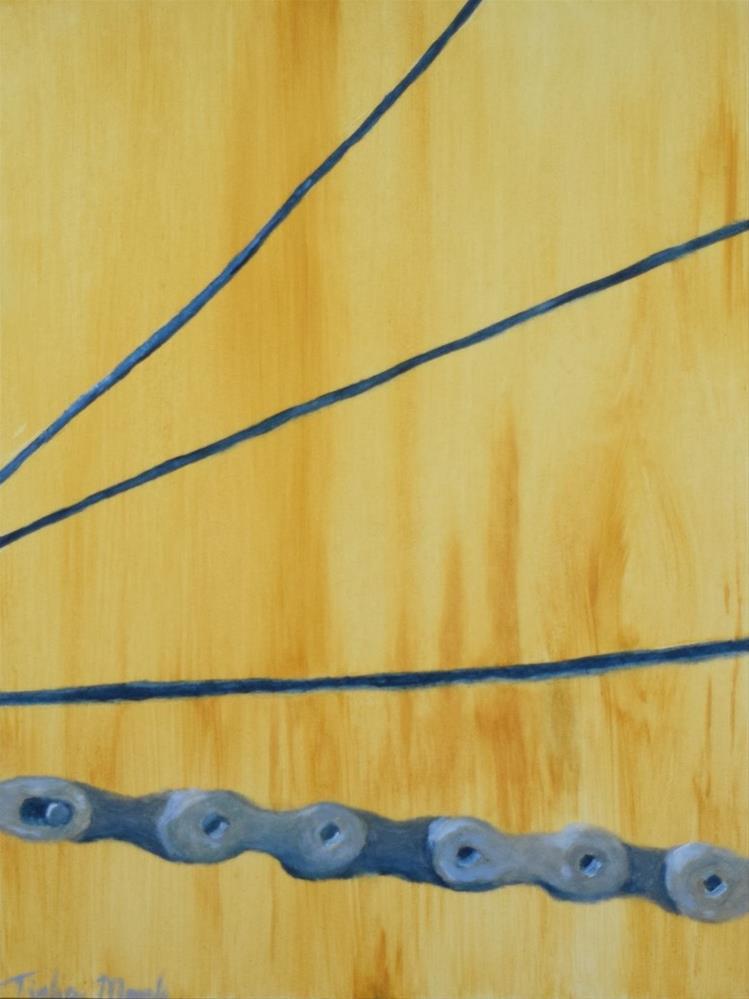 """Chain and Spokes"" original fine art by Tisha Mark"