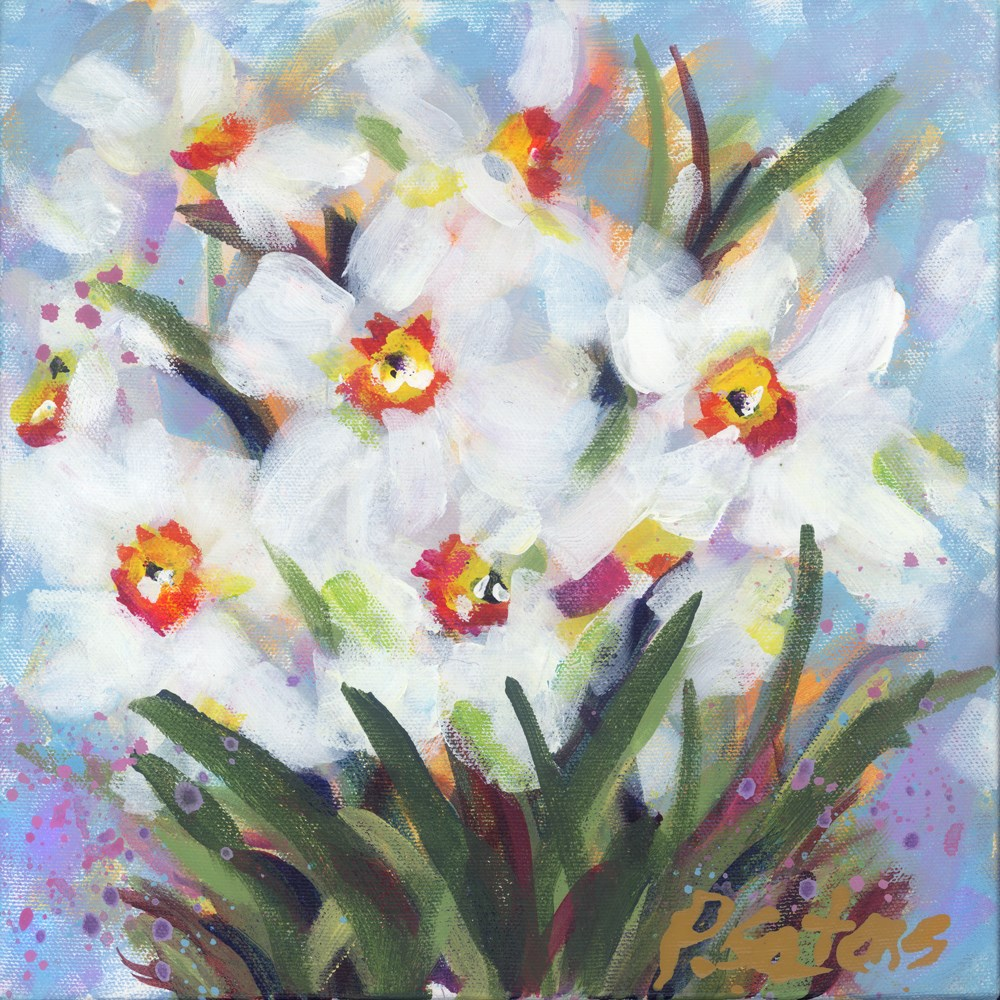 """Daffodils for Louise"" original fine art by Pamela Gatens"