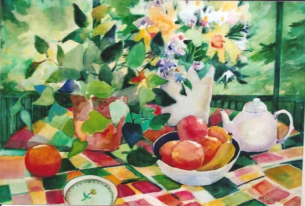 """summer porch"" original fine art by meribeth coyne"