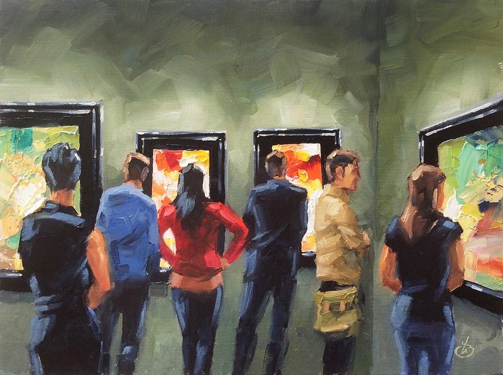 """ART LOVERS"" original fine art by Tom Brown"
