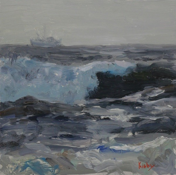 """Sea Gray"" original fine art by Randall Cogburn"