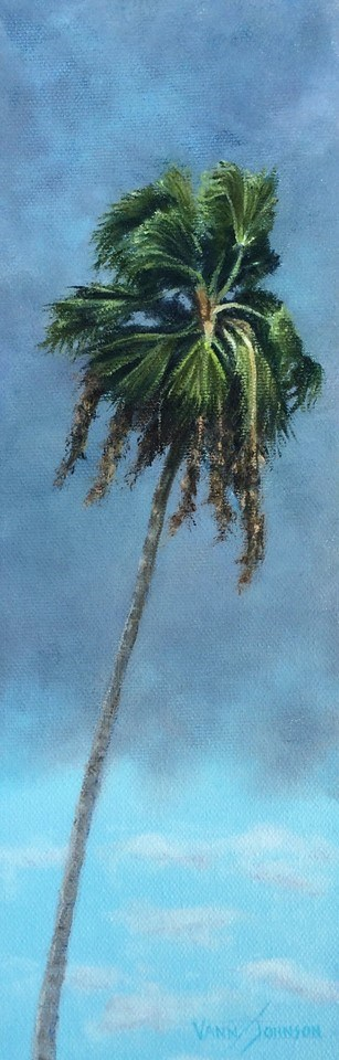 """Stormy palm 2"" original fine art by Wendi Vann Johnson"