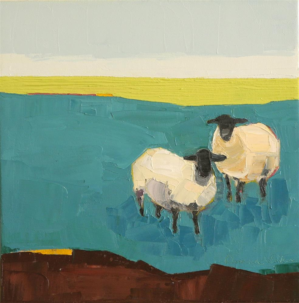 """In the Blue Pasture"" original fine art by Donna Walker"