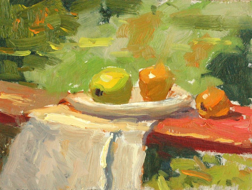 """Outdoor Still Life Study"" original fine art by Michael Clark"