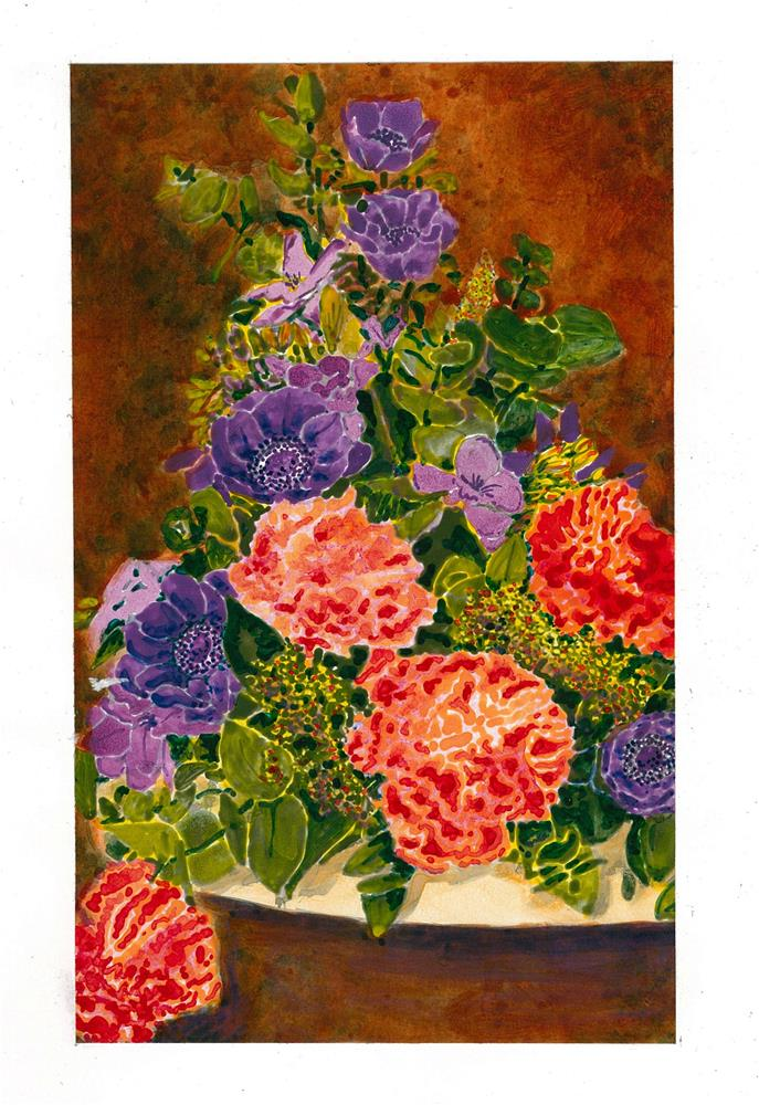 """200 CLASSIC FLOWERS 2"" original fine art by Trevor Downes"