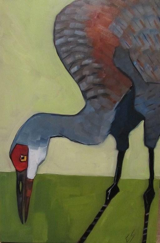 """""""Sandhill Crane"""" original fine art by Elizabeth See"""