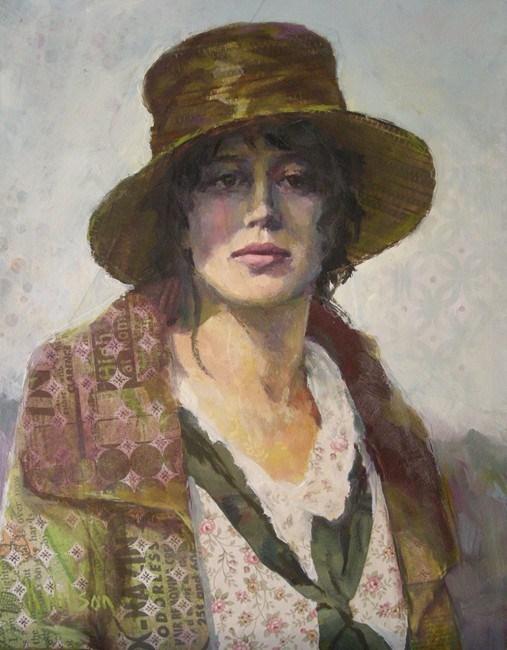 """Big Hat"" original fine art by Katie Wilson"
