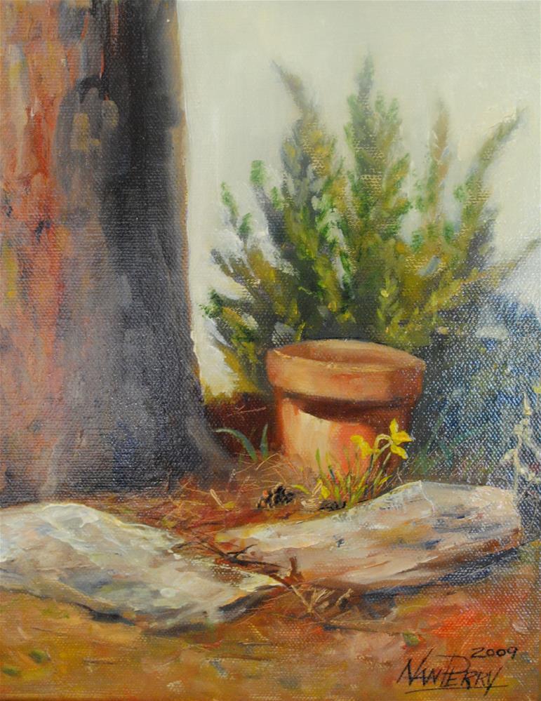 """Solitary Twosome"" original fine art by Nan Perry"