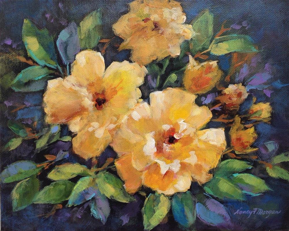"""Texas Roses"" original fine art by Nancy F. Morgan"