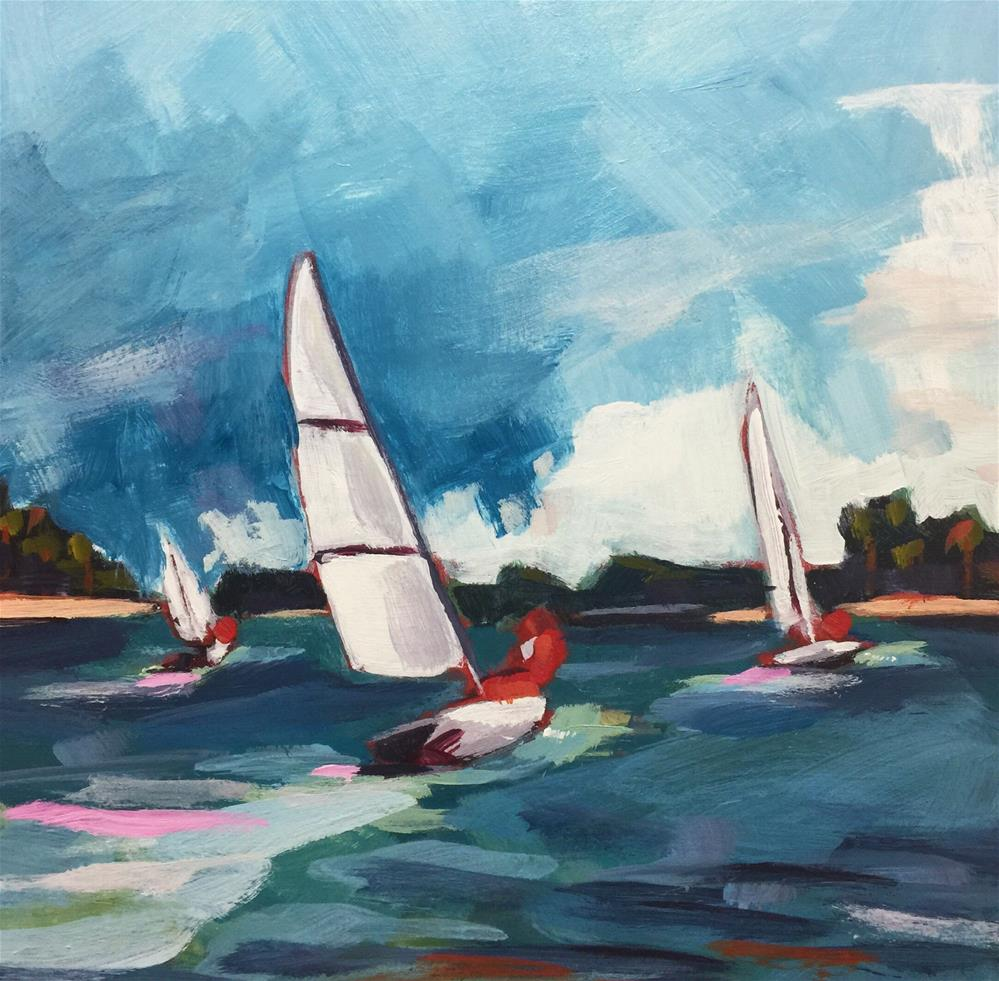 """""""Sailing on the Severn (#456)"""" original fine art by Brian Miller"""