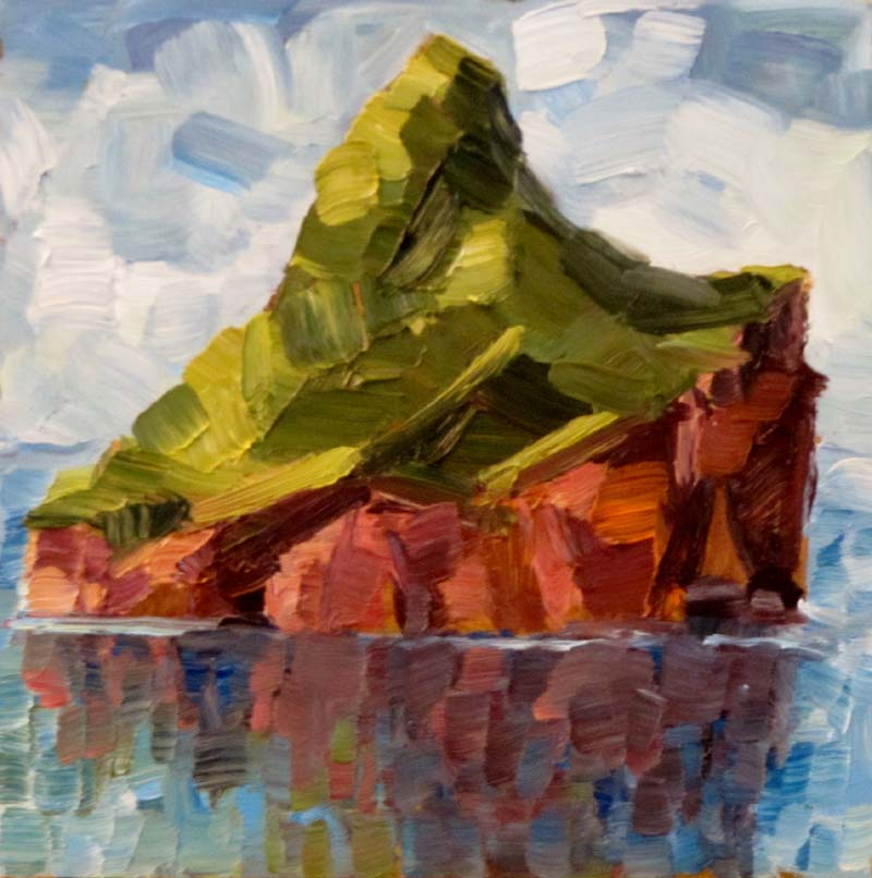 """Rocky reflections"" original fine art by Steinunn Einarsdottir"