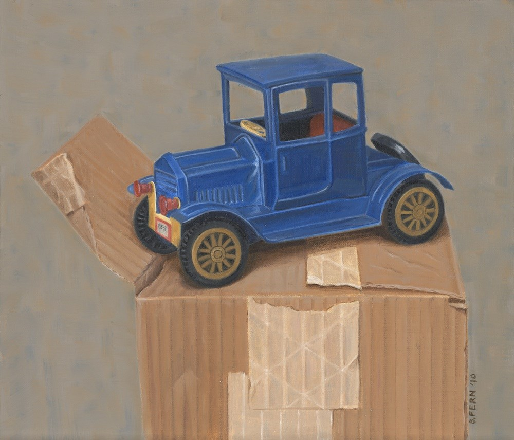 """Boxcar"" original fine art by Susan Fern"