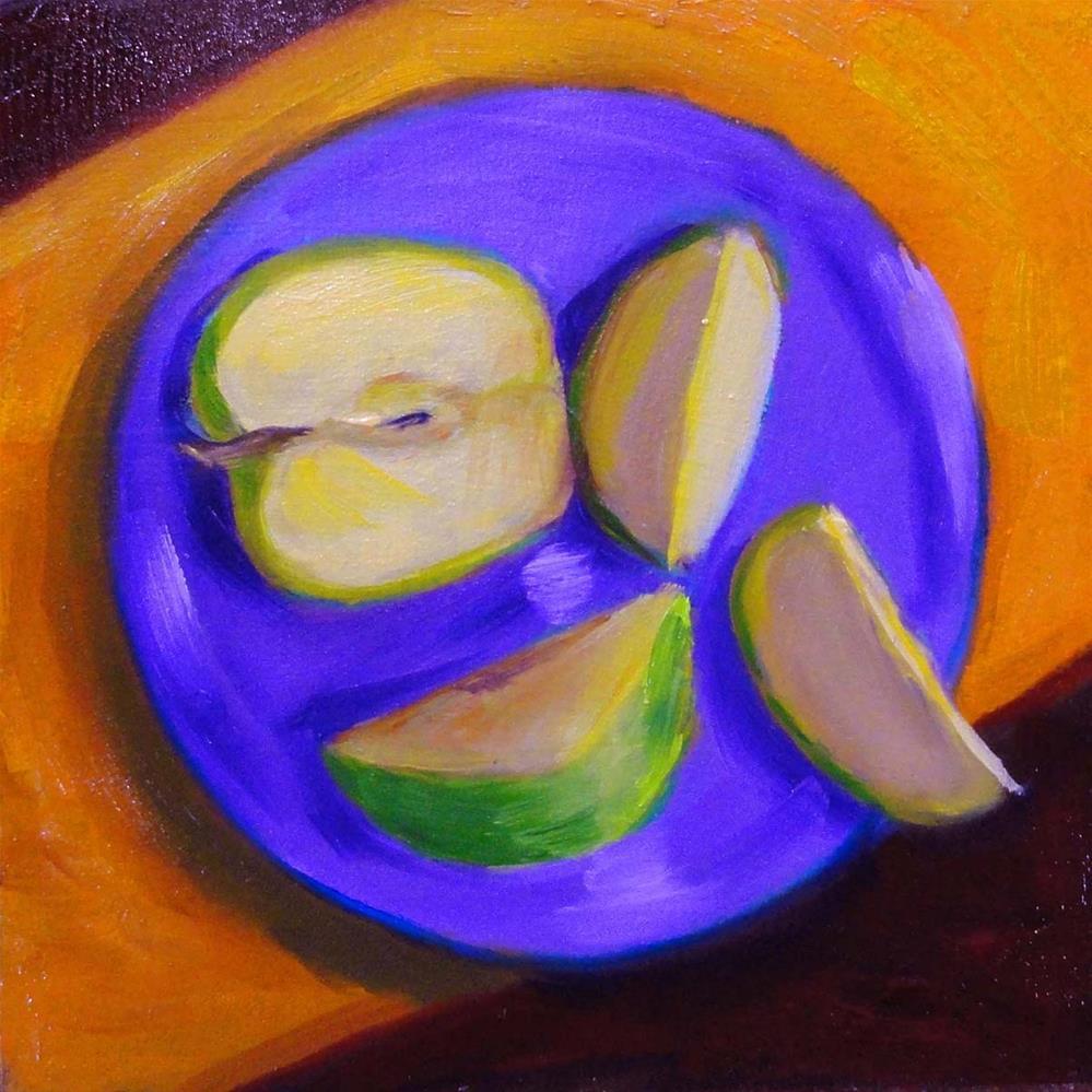 """Apple Slices"" original fine art by Cietha Wilson"