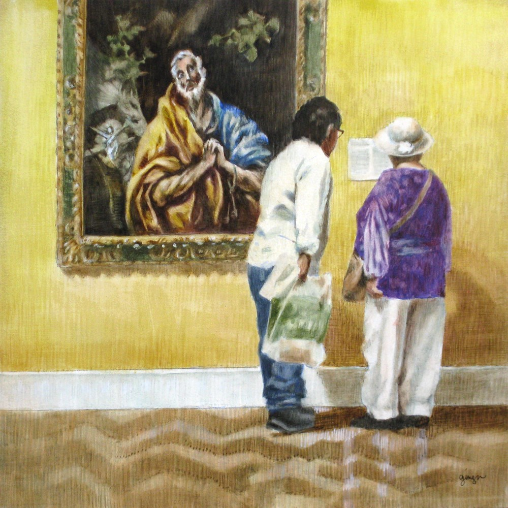 """Les Interest in El Greco"" original fine art by Ginger Pena"