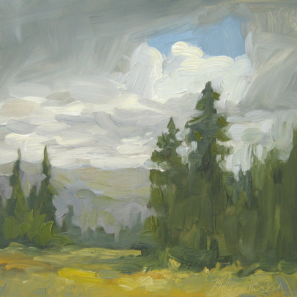 """Cloud Break Over Hell's Canyon"" original fine art by Melanie Thompson"