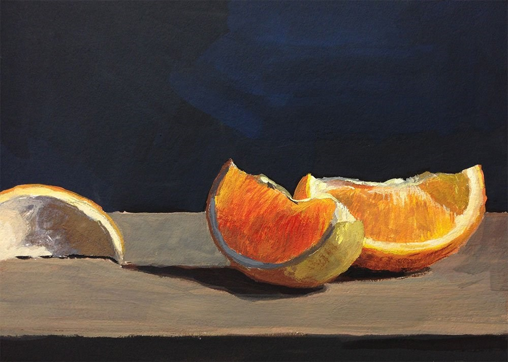 """Still Life With Oranges"" original fine art by Chris Beaven"