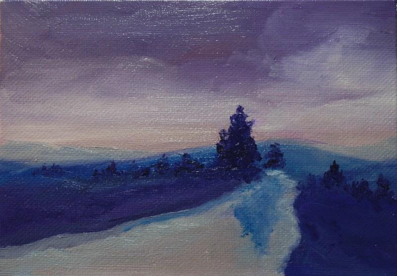"""""""Purple Twilight"""" original fine art by Jean Nelson"""