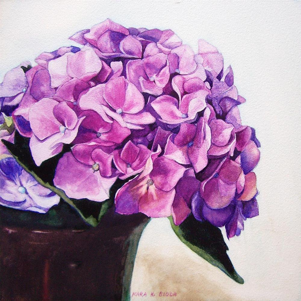 """Hydrangea I"" original fine art by Kara K. Bigda"