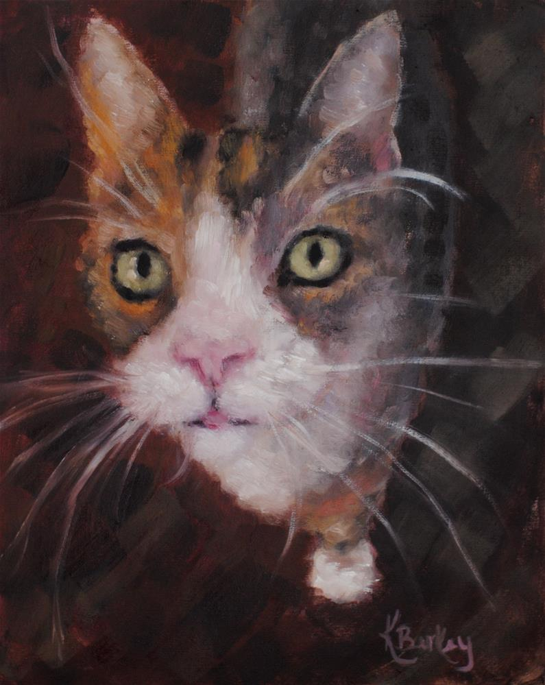 """Here Kitty"" original fine art by Kelly Berkey"